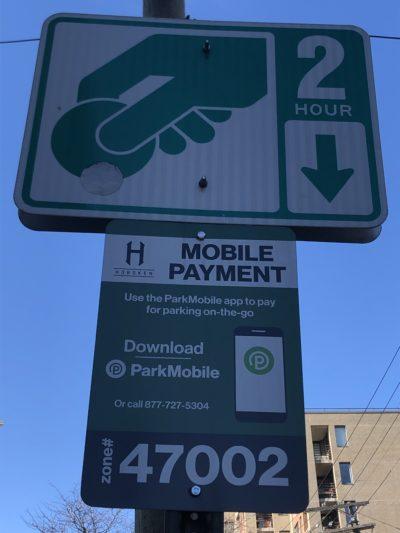 ParkMobile Sign